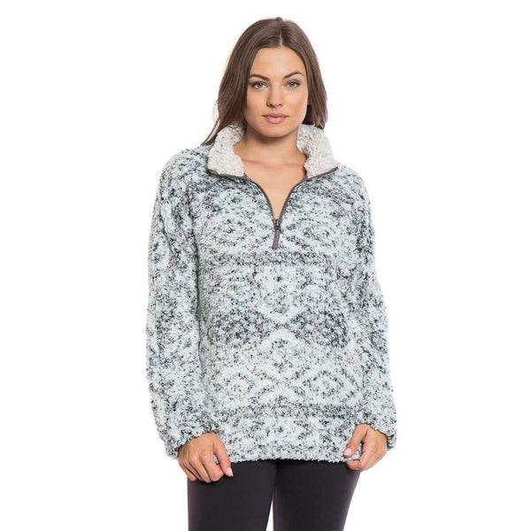 Women's Outerwear - Tribal Frosty Tipped Women's Stadium Pullover In Aqua By True Grit (Dylan)