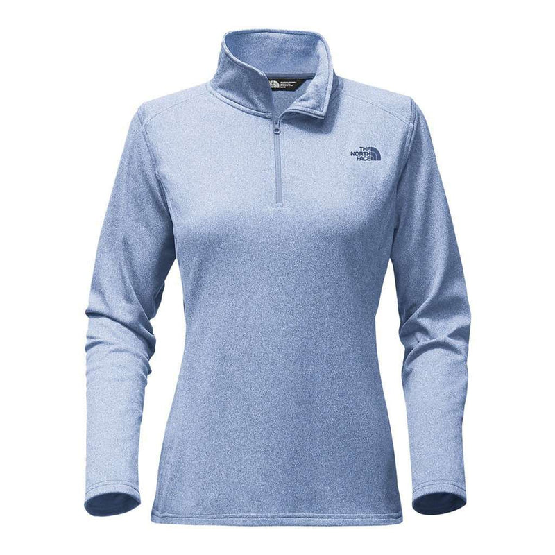 Women's Outerwear - Women's Tech Glacier 1/4 Zip In Chambray Blue Heather By The North Face - FINAL SALE