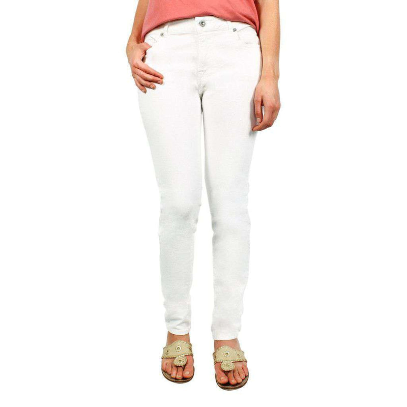 Women's Pants - 5 Pocket Jeans In White By Tyler Boe - FINAL SALE