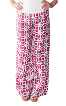 Women's Pants - Beach Pant In Pink Charmer By All For Color - FINAL SALE