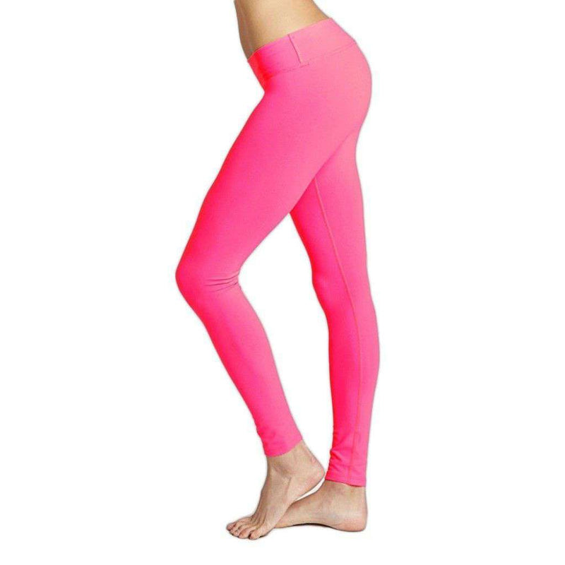 Women's Pants - Essential Long Legging In Pink Flame By Beyond Yoga - FINAL SALE
