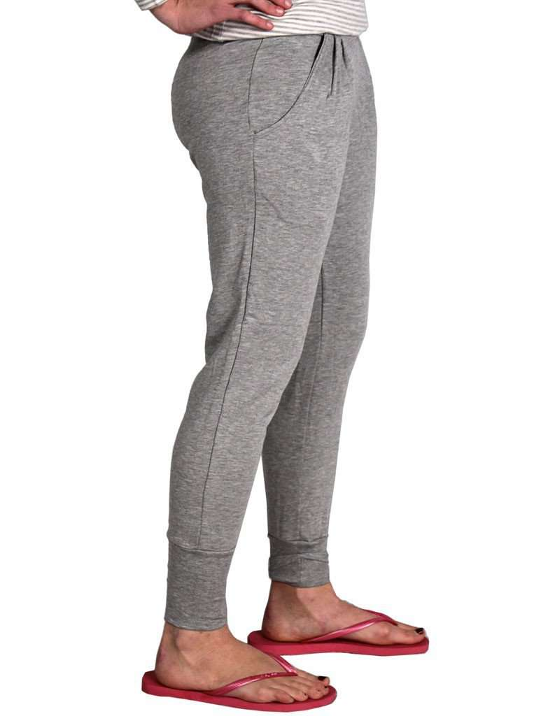 Women's Pants - Lux Lounge Pant In Light Heather Grey By Beyond Yoga - FINAL SALE