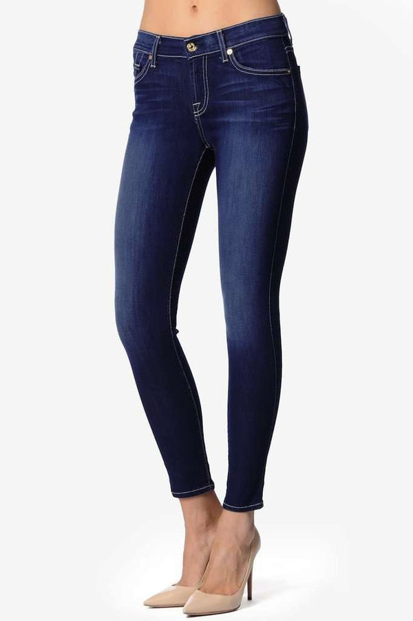 "Women's Pants - The Ankle Skinny In Vixen Sky (28"" Inseam) By 7 For All Mankind - FINAL SALE"