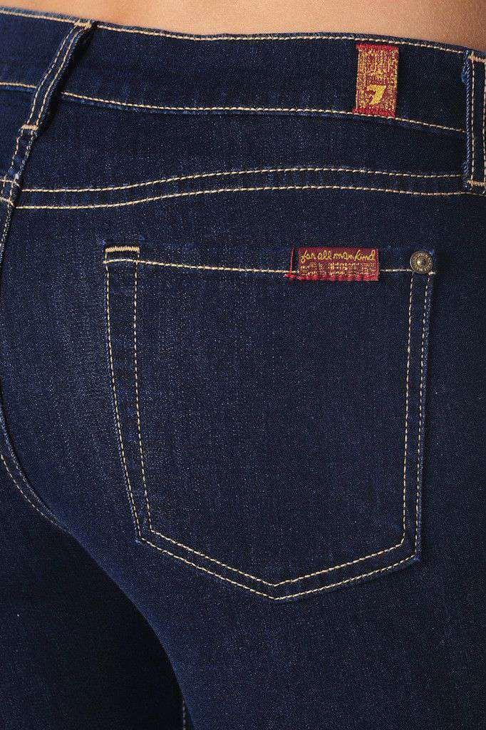 The Skinny Jean in Rinsed Indigo by 7 For all Man Kind - FINAL SALE
