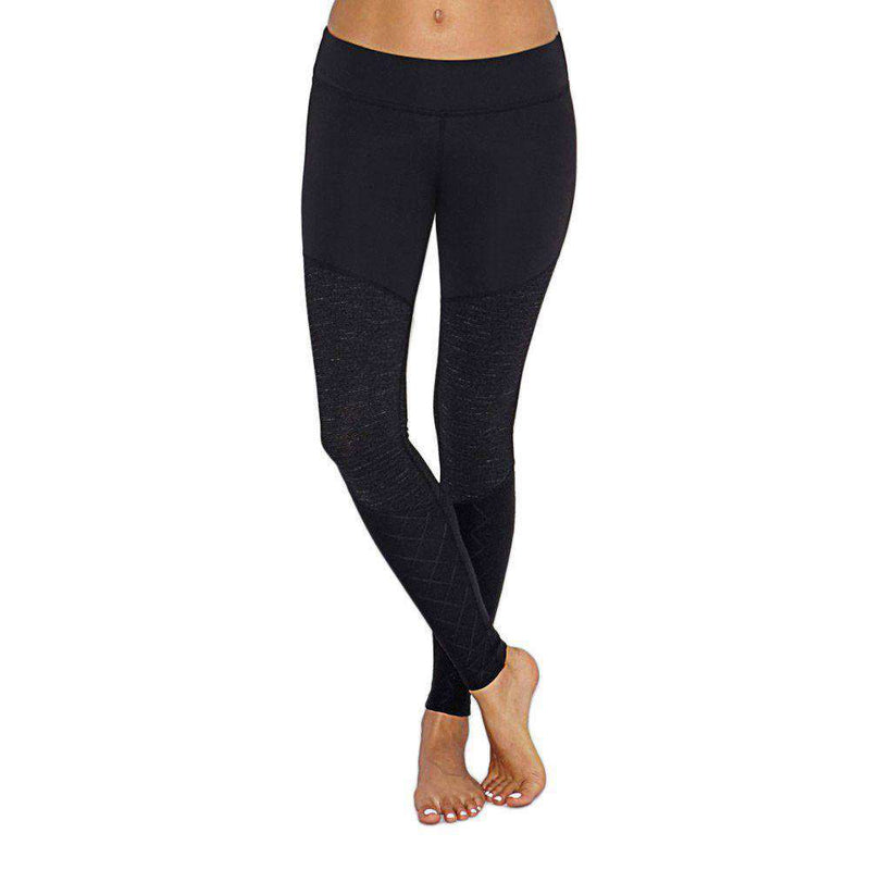 Women's Pants - Tres Chic Panel Legging In Black By Beyond Yoga