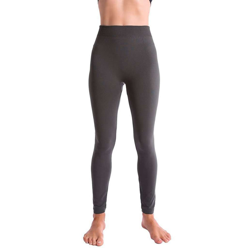 Ultra-Soft Seamless Fleece Lined Leggings in Charcoal Grey