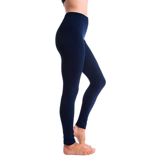 Ultra-Soft Seamless Fleece Lined Leggings in Navy