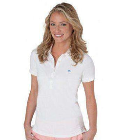 Women's Polo Shirts - Country Club Prep Ambassador Women's Skipjack Polo In White By Southern Tide