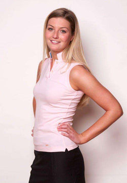 Women s Polo Shirts - The Sleeveless Cove Collar In Pink By Salmon Cove -  FINAL SALE 696c948c8