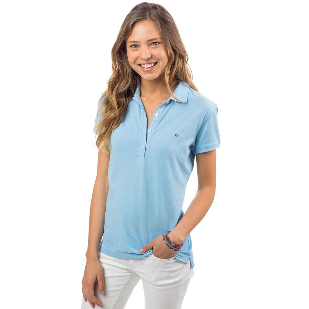 Southern Tide Women s Skipjack Polo in Sky Blue – Country Club Prep b84a95caec