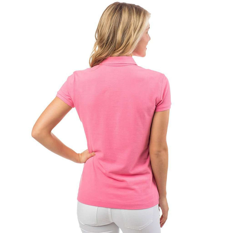 Women's Polo Shirts - Women's Skipjack Polo In Smoothie Pink By Southern Tide