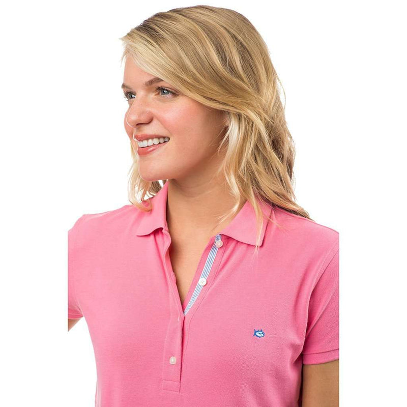 Women's Skipjack Polo in Smoothie Pink by Southern Tide