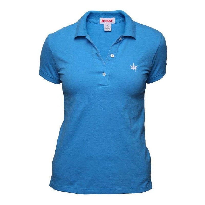 Women's Polo Shirts - Women's Solid Piqué Polo In Brilliant Blue By Boast - FINAL SALE