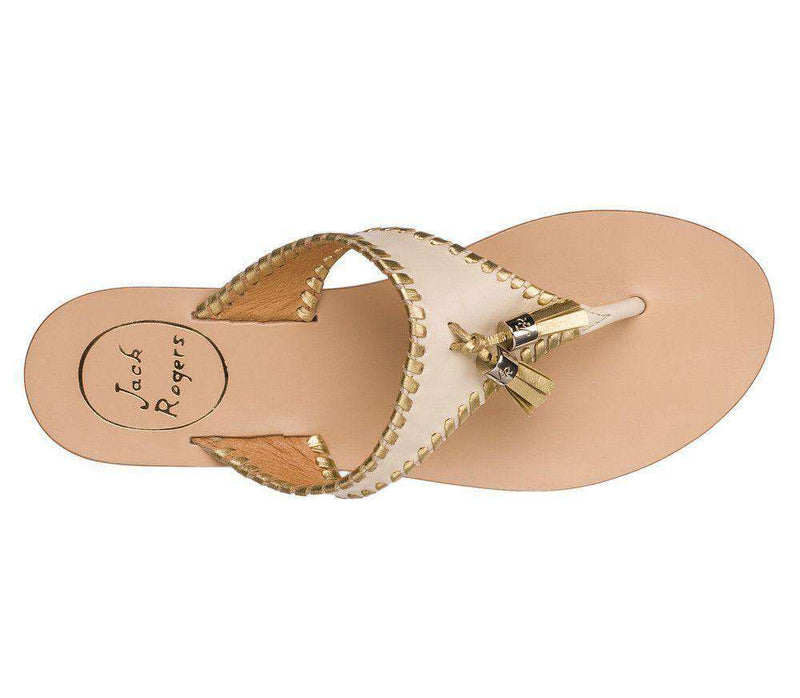 Women's Sandals - Alana Sandal In Bone And Gold By Jack Rogers - FINAL SALE
