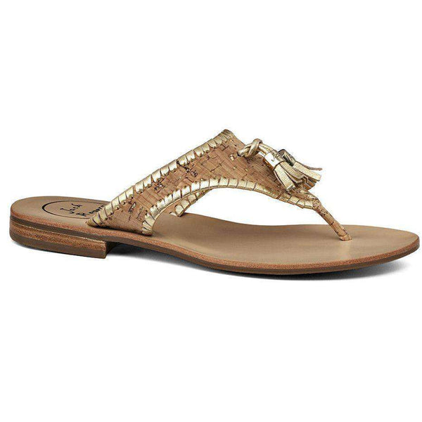 Women's Sandals - Alana Sandal In Cork And Gold By Jack Rogers