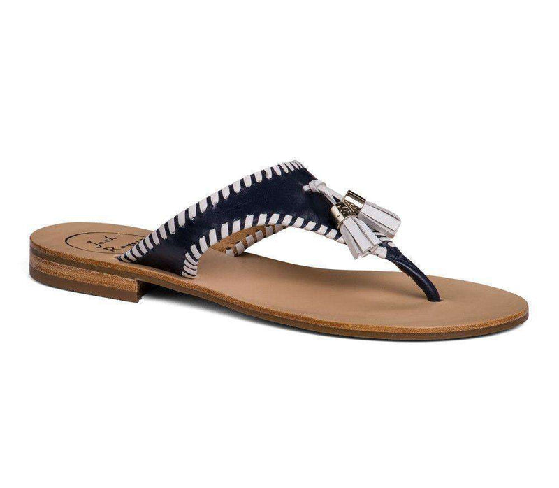 Women's Sandals - Alana Sandal In Midnight Navy And White By Jack Rogers - FINAL SALE