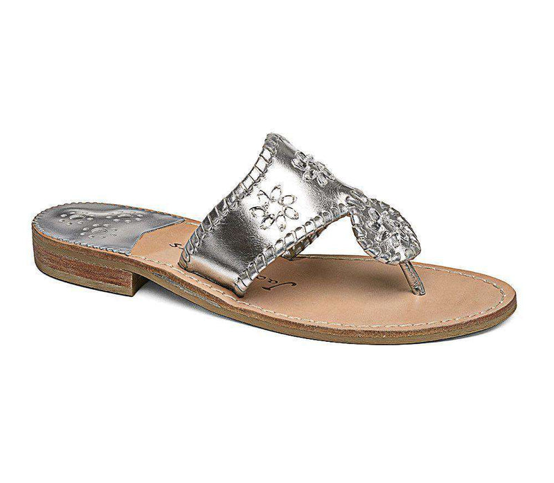 Women's Sandals - Enchanted Navajo Sandal In Silver By Jack Rogers