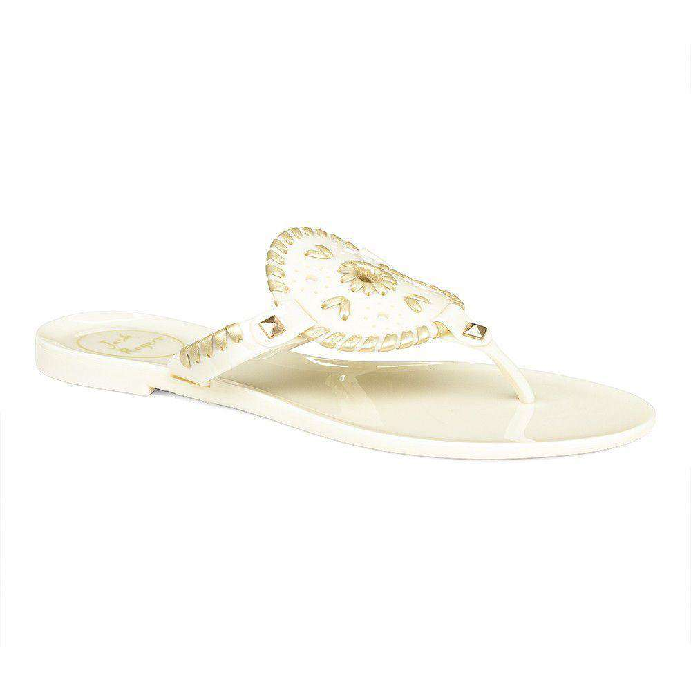 b01cafd423e7 Georgica Jelly Sandal in Bone and Gold by Jack Rogers - FINAL SALE