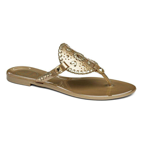 Women's Sandals - Georgica Jelly Sandal In Gold By Jack Rogers