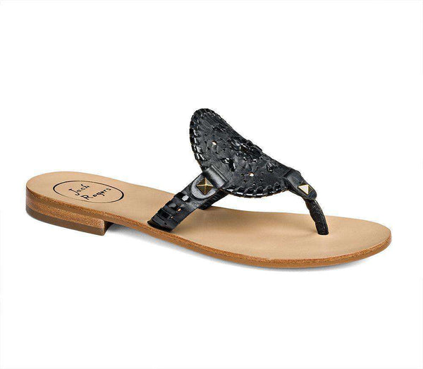 Women's Sandals - Georgica Sandal In Black By Jack Rogers