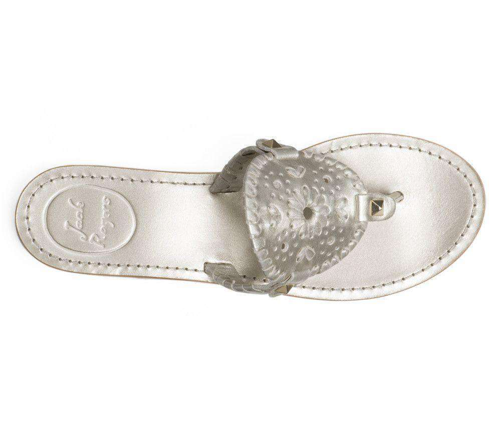 Women's Sandals - Georgica Sandal In Platinum By Jack Rogers - FINAL SALE