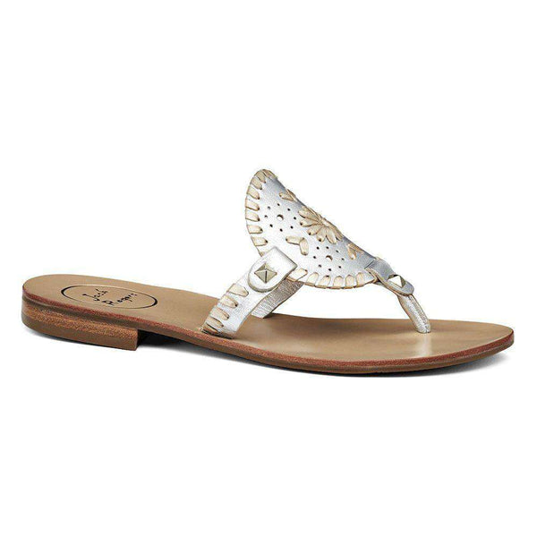 Women's Sandals - Georgica Sandal In Silver And Platinum By Jack Rogers