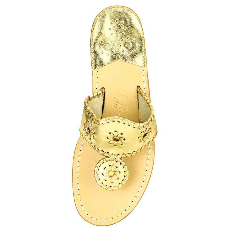 Women's Sandals - Hamptons Navajo Sandal In Gold By Jack Rogers