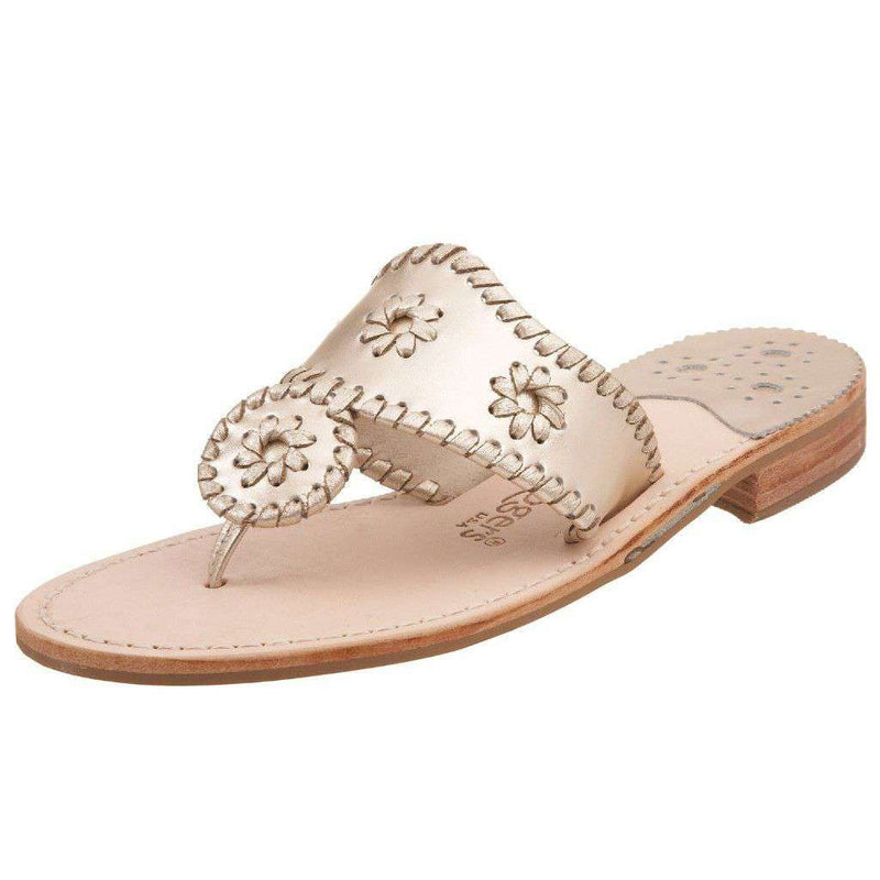 Women's Sandals - Hamptons Navajo Sandal In Platinum By Jack Rogers