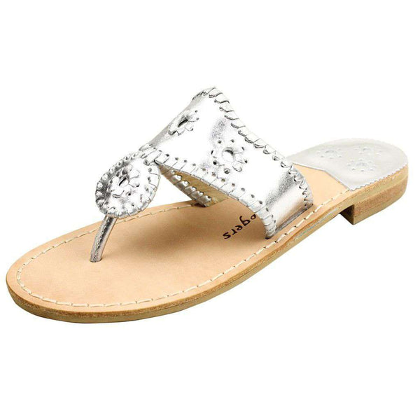 Women's Sandals - Hamptons Navajo Sandal In Silver By Jack Rogers