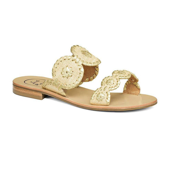 Women's Sandals - Lauren Raffia Sandal In Gold Raffia By Jack Rogers - FINAL SALE