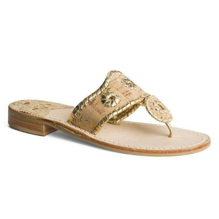 Women's Sandals - Napa Valley Navajo Sandal In Cork And Gold By Jack Rogers