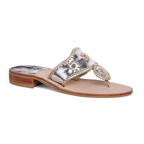 Women's Sandals - Nicola Navajo Sandal In Silver & Platinum By Jack Rogers