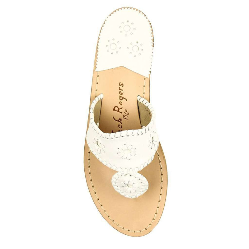 Women's Sandals - Palm Beach Navajo Sandal In White By Jack Rogers
