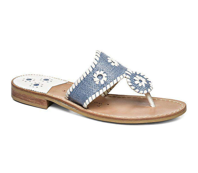 Women's Sandals - Raffia Sandal In Blue By Jack Rogers