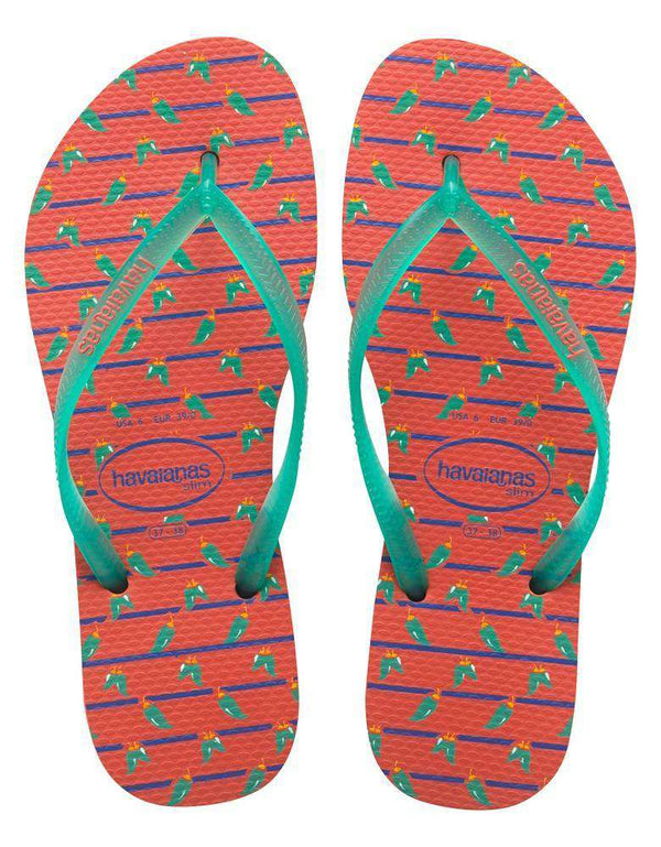 Women's Sandals - Slim Cool Sandals In Salmon By Havaianas - FINAL SALE