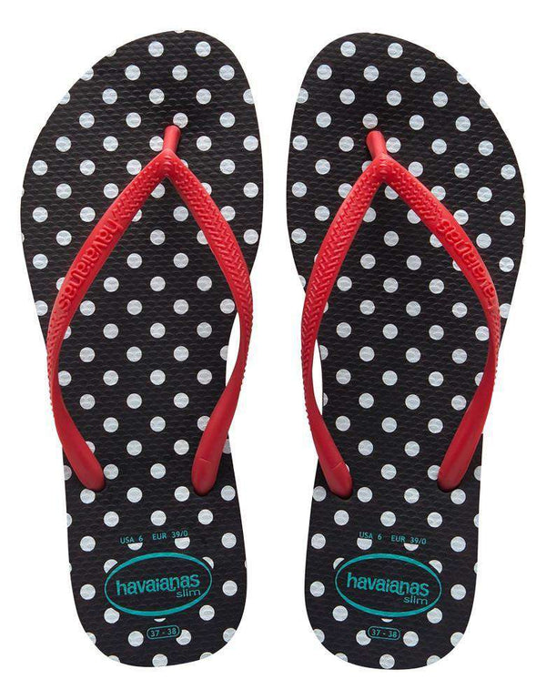 Slim Fresh Sandals in Black by Havaianas - FINAL SALE
