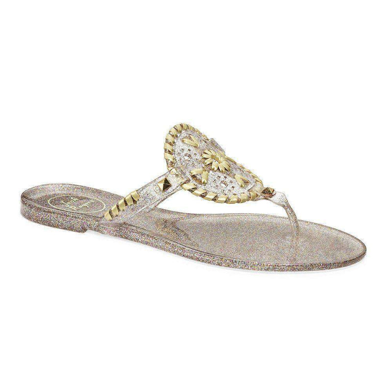 Women's Sandals - Sparkle Georgica Jelly Sandal In Multi-Color And Gold By Jack Rogers