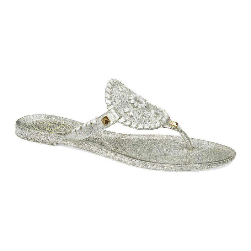 Women's Sandals - Sparkle Georgica Jelly Sandal In Silver By Jack Rogers