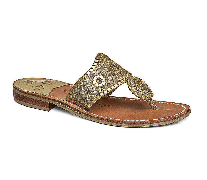 Women's Sandals - Sparkle Navajo Sandal In Gold By Jack Rogers