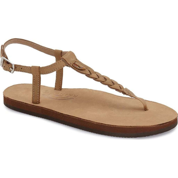 Women's Sandals - T-Street Single Layer Leather Sandal In Sierra Brown By Rainbow Sandals