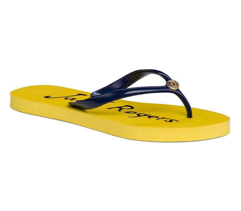 Women's Sandals - Tessa Flip Flop Sandal In Buttercup And Midnight By Jack Rogers
