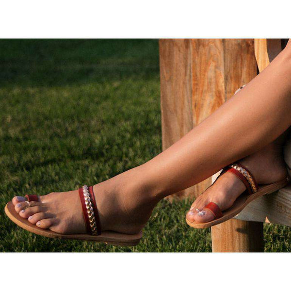 The Byzantine Sandal in Tan by The Mallard