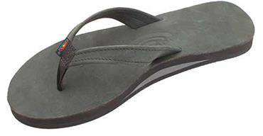 Women's Sandals - The Catalina Tapered Strap Premier Leather Sandal In Black By Rainbow Sandals