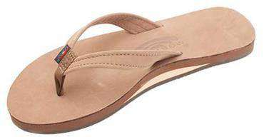 Women's Sandals - The Catalina Tapered Strap Premier Leather Sandal In Dark Brown By Rainbow Sandals