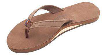Women's Sandals - The Catalina Tapered Strap Premier Leather Sandal In Expresso By Rainbow Sandals