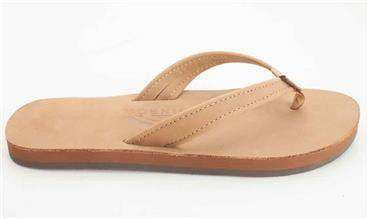 Women's Sandals - The Catalina Tapered Strap Premier Leather Sandal In Sierra Brown By Rainbow Sandals