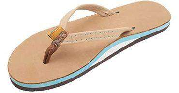 1cd4db93651e4f Women s Sandals - The Tropics Leather Sandal In Sierra Brown W  Ocean Blue  Midsole By