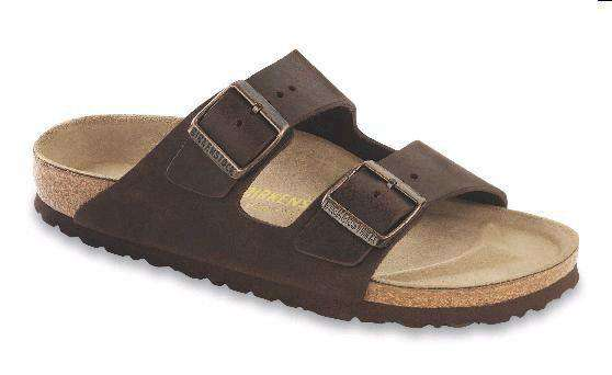 Women's Sandals - Women's Arizona Sandal With Oiled Leather In Habana By Birkenstock