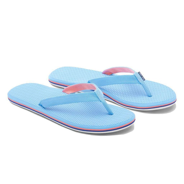 Women's Sandals - Women's Dunes Flip Flop In Baby Blue, Coral & Navy By Hari Mari
