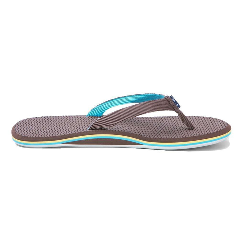Women's Sandals - Women's Dunes Flip Flop In Brown, Yellow & Blue By Hari Mari